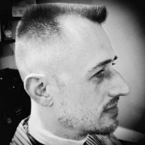 blue spark haircut
